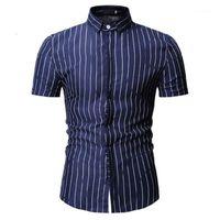 Erkek Casual Gömlek Kısa Kollu Erkek Gömlek Slim Fit Chemise Homme M-3XL Soical1