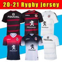 Top Toulouse Munster City Rugby Jerseys 20 21 Casa Away STADE TOULOUSAIN 2020 League Jersey Lentollus Shirt Tempo libero Sport Training S-5X