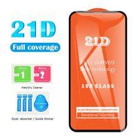 21D 풀 접착제 iPhone 12 Pro Max 11 Pro Cover Edge 스크린 프로텍터에 대 한 Samsung A21S A71 Huawei P40 Lite 폼 가방