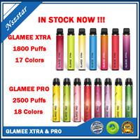 새로운 L Glamee Xtra Glamee Pro 일회용 vape 펜 키트 1800 2500 퍼프 1500mAh 8ml 포드 카트리지 5 % 일회용 포드 장치 공장