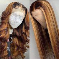 65 centimetri Femminile lungo i capelli ricci capelli lisci parrucche donne parrucca di capelli copricapo resistente alle alte temperature opaca fibre chimiche di alta qualità parrucca