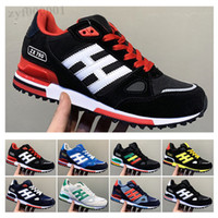 Adidas Originals ZX750 New Wholesale EDITEX Originals ZX750 Sneakers blue black grey zx 750 for Mens and Womens Athletic Breathable casual Shoes Size 36-45 SX06