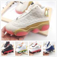 Jumpman 13 13S детская обувь баскетбол кроссовки XIII черный кот розовый чичаго разводят белый молодость детей мальчик девушки тренеров размером 22-35