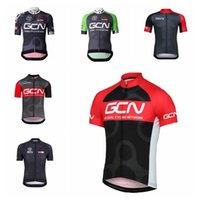 GCN Team Велоспорт Короткие рукава Джерси Наружный велосипед Велоспорт Одежда Велосипед Рубашки Roupa Ciclismo Sportswear MTB Открытый Велосипед Джерси 101921
