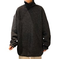 Mode Männer Pullover Bluse Korea Freies Verschiffen Übergroße Harajuku Pullover Turtheneck Vetement Homme Sweatshirt Winter EA60My