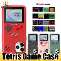 Retro Oyun Konsol Durumda iPhone 11 Pro Max XR XS 8 Tam Renkli Ekran 3D Telefon Kılıfları Klasik Tetris Oyun Kapak Izeso FY7224