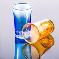 Taza de vidrio Copa Acrílico Party KTV Copa de Juego de Boda para Whisky Vino Vodka Bar Club Cerveza Copa de Vino 35ml Botella de regalo PPA2834