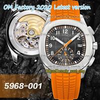OMF 2020 Super Version Sport Watches 5968A-001 التدرجات الاتصال الهاتفي ETA 7750 CH 28-520 كرونوغراف التلقائي 5968 رجل ووتش الصلب حالة ساعة توقيت
