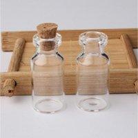 Flacons en verre clair 2 ml avec bouchons de bouchons de bouteille de bouteille de bouchon de bouteille vide échantillon de poteaux petits bouteilles mignonnes