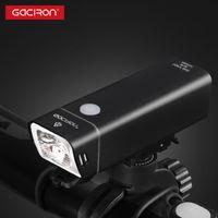 أضواء الدراجات GACIRO V9FP-600 دراجة المصباح 600Lumens الإضاءة الأمامية المقود السريع جبل XPG3 LED مصباح 2500MAH بطارية USB تهمة