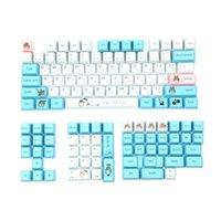 Tastiera Mouse Combos PBT KeyCaps profilo OEM 130 Tasti Cartoon Dye Sublimation 1.75U 2U Shift 6.25U Spacebar Compatibile 95% meccanico