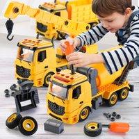 Escavadora de veículos de engenharia clássico construção carros escavadeira modelo brinquedos para crianças meninos presente Diecasts Toy Veículos