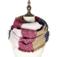 Geruite gestreepte hals sjaal gebreide ringyarn hoofd sjaal cirkel loop sjaals herfst winter nek sjaal vrouwen sjaals mode feestartikelen GGB2541