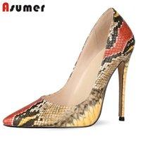 ASUMER 2020 زائد الحجم 34-45 أحذية واحدة النساء مضخات الأفعى أشار تو الربيع الصيف أزياء مثير عالية الكعب حفلة موسيقية أحذية امرأة 1