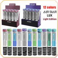 Air Bar Lux Light Edition 1000 Puffs Dispositivo Descartável VOG DO POD 500mAh Bateria 2.7ml Cartucho Vape Vape Pen vs Puff Plus XXL