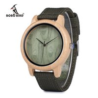 Bobo Bird WD11D12 Wood Bamboo Watch per Mens Womens Brand Designer orologi Soft Band in nylon scatola regalo scatola relogio masculino 210303