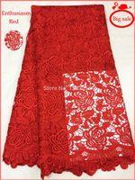 2014 Wysokiej Jakości 100% Bawełna Francuski Szwajcarski Voile Afryki Aksamitne Koronki Koronki Tkaniny Do Odzieży Ślubny Prezent Dress # D004 5 jardów