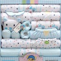18 piezas recién nacido bebé niña niño ropa conjunto 100% algodón niño niño ropa traje bebé niña ropa trajes pantalones sombrero guantes babero y200323