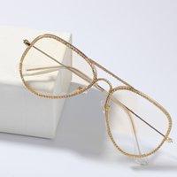 2020 Nouvelle mode de luxe de luxe lunettes Hommes Femmes Fashion Accessoires Cadres Cadres Métalliques Cadres Rapper HiPhop Micro Pavé CZ Sunglasses