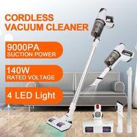 2 en 1 9000Pa 140W Aspirateur sans fil sans fil lavable Stick Stick Stick Stickless Nettoyant Collecteur de poussière de tapis pour la voiture à la maison