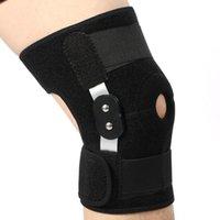 Suporte ajustável do joelho almofada protetor protetor patela artrite joelho articulação perna de manga de compressão buraco joelheiras articuladas