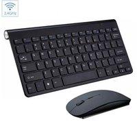 Combo de mouse de teclado inalámbrico Mini 2.4G portátil con receptor USB para escritorio, computadora PC, computadora portátil y TV inteligente envío rápido1