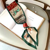 Wholesale nouveau style écharpe en soie double couche imprimée écharpe de la foulée de la mode ruban