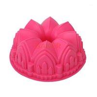 Crown Crown Molde de la torta de silicona Microondas Herramientas de hornear Novedad Pastel Moldes Moldes de pan Molde de pastelería SCM-003-41
