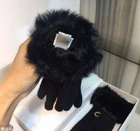 Зимняя реальная кожаная мех женщины перчатки мода черные густые теплые перчатки для женщин высокое качество старинные женщины перчатки