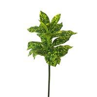 البلاستيك وهمية النبات الأخضر ديكور ترك محاكاة النباتات الفروع زهرة المنزل جدار الديكور بانيان كابوك أوراق شجرة اصطناعية