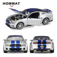 Hommat Simulation Maisto 1:24 Maßstab 2014 FORD Mustang Street Racer Legierung Modell Auto Diecast Spielzeugfahrzeuge Automodell Sammlerstück X0102