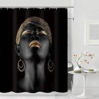 Douchegordijn American Fille Douche Rideau Salle de bains Rideaux de douche étanche suspendu Rideaux de salle de bain pour la décoration de la maison Z1127