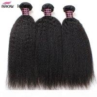 저렴한 8A 브라질 버진 헤어 킨키 스트레이트 3 번들 100 % 인간의 머리카락 확장 브라질 yaki 스트레이트 브라질 버진 머리카락 야키