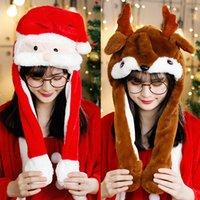 Regalo la protezione animale cappello del partito di Halloween di Natale di Pasqua orecchie Moving regalo di salto buffo cappello di Natale cap KKA8289