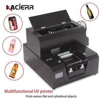 طابعة UV الذكية 2-in-1 لزجاجة / حالة الهاتف المحمول / الصورة / التسمية / شعار لون اللوحة الطباعة A4 الطائرة بالإضافة إلى اسطوانة