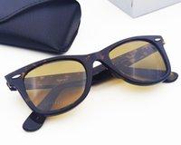 نظارات شمسية Declinde زاوية السلحفاة ساحة خلات الإطار حقيقي UV400 العدسات الزجاجية رجل امرأة مناسبة شاطئ التظليل، القيادة، الصيد، مع مربع الملحقات مربع.