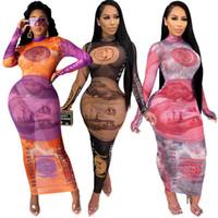 Abiti da donna Bohemian Donne Dollaro stampato in maglia Sexy Abiti sexy