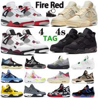 New top fogo vermelho vela preto gato noir homens mulheres 4 4s sapatos de basquete paris cactus jack homens treinadores esporte sapatos