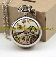 Wunderschöne seltene Email Frauen Taschenuhr Halskette Zubehör Pullover Kette Damen Hängende Uhren Herren Quarz AA00127