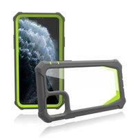 2 in 1 custodia trasparente di armatura dello spazio trasparente dello spazio per iPhone 12 mini 11 Pro Max XR XS X 6 7 8 Plus