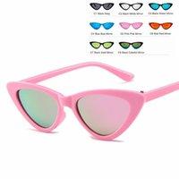 8 Cores misturadas ou comentários ins Crianças bebê óculos de sol meninos meninos crianças sol óculos de doces gato olho óculos de sol
