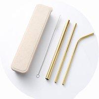 Yeniden Kullanılabilir İçme Saman Seti Yüksek Kaliteli Metal Saman Temizleme Fırçası Ile Yaratıcı Hediyeler Moda Içme Saman Mutfak Aksesuarları YHM202-1