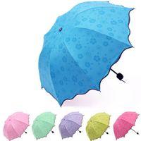 Полный автоматический зонт дождь женщины мужчины 3 складной светлый и прочный 8K сильные зонтики детей дождливые солнечные зонтики 6 цветов lx4541