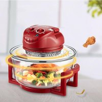 1200W Home Multifunction Electric Fryer 220 V 12L Oil Free Air Fryer Fácil Limpo Transparente Vidro Mecânico Tipo Lightwave Oven1