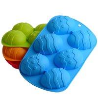 6 Cavity Pâques Forme de cuisson de cuisson de cuisson en silicone Moule de silicone gâteau de silicone gâteau chocolat moules de décoration silicone Accessoires
