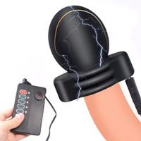 Electric Shock Oefening Glans Trainer Electro Stimulator Therapie Penis Massage Mannelijke Masturbation Delay Training Speeltjes voor Mannen