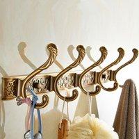 5 ganchos de fila de baño de lujo de baño de pared talla de talla de gancho de gancho de gancho para percha para accesorios de baño