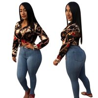 Mesdames Mode Élégante Chemise Imprimer Chemise Blouses Designer Femmes à poitrine unique Chemises occasionnelles Chemises à manches longues boutonnières