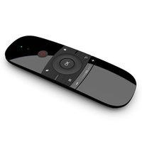 최신 백라이트 비행 에어 마우스 W1 내장 리튬 배터리 2.4G 무선 키보드 원격 제어 장치 PC Android TV 상자 용 터치 패드