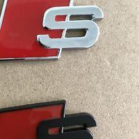 مصمم Metal S S-Line ملصقات 3D سيارة ملصقا أحمر أسود الجبهة الباب الخلفي الباب الباب ل أودي A4L A6L QUATTRO TT S3 S6 S8 S